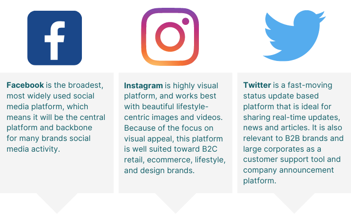 Facebook, Instagram & Twitter Management